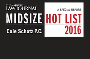 Cole Schotz Named to The National Law Journal's 2016 Midsize Hot List